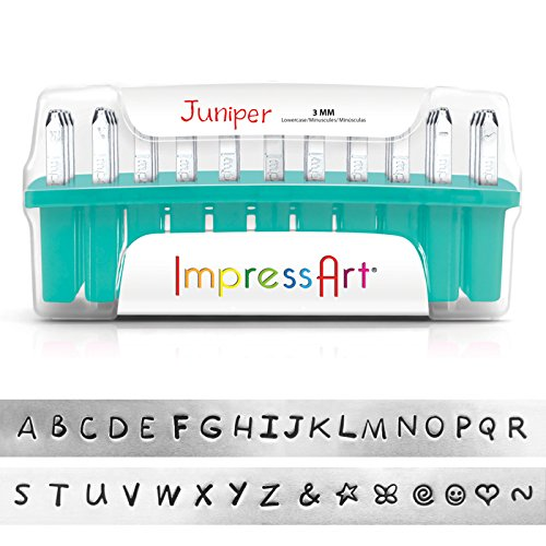 ImpressArt Juniper Uppercase Letter Metal Stamps Set by ImpressArt
