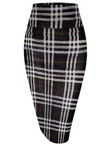 HyBrid & Company Womens Pencil Skirt for Office Wear KSK43584 181363 BLKMUS XS