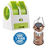 Captcha Portable Mini Air Cooler Adjustable Angles Fan With USB And Battery Use With 6 LED Solar Power Camping Lantern Rechargable Collapsible Night Light Compatible with Xiaomi, Lenovo, Apple, Samsung, Sony, Oppo, Gionee, Vivo Smartphones (One Year Warranty)
