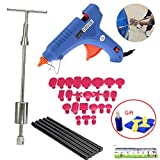VTOLO Paintless Dent Repair Tools Kit - Grip PRO Slide Hammer with 24pcs Dent Removal Pulling Tabs Car Dent Repair Tools for Vehicle SUV Car Auto Body Hail Damage Remover