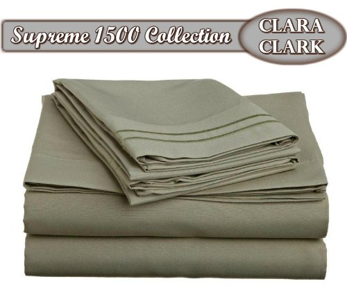 Clara Clark Supreme 1500 Collection 4pc Bed Sheet Set - King