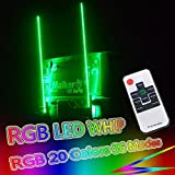 led light antenna - OMUOFFROAD 5FT 20 Color RGB LED Lighted Whip Antenna Whip Safety Flags Pole Bendable For Polaris RZR UTV ATV Sand Dune Buggy Quad Truck Boat (One Whip)