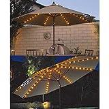FiNeWaY UMBRELLA CHAIN LIGHT GARDEN PARASOL 72 LED SOLAR POWERED 8 STRUT FAIRY LIGHTS