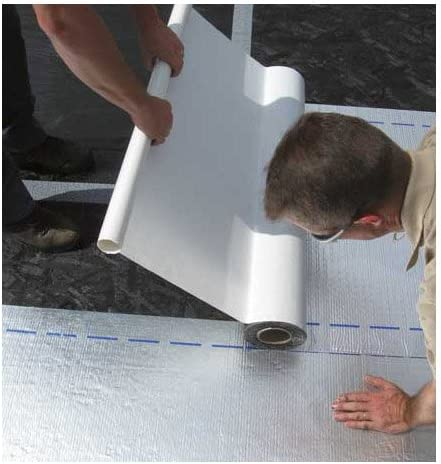1, 12in. Gray MFM Peel /& Seal Self Stick Roll Roofing