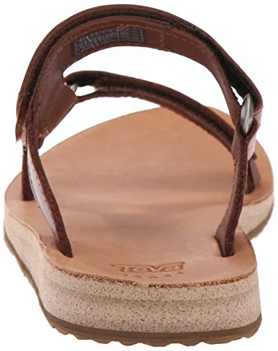 cheap buy authentic wide range of for sale Teva Women's Universal Slide Leather Sandal Brown O8vv1iy