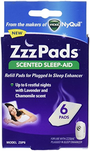 (ZzzPads Scented Sleep-Aid Refill Pads for ZzzQuill Plugged in Sleep Enhancer, 6 pads )