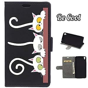 BeCool® - Funda carcasa tipo Libro para Alcatel OneTouch Idol 3 5.5 protege tu Smartphone ya que se adapta a la perfección, tiene Función Soporte, ranuras para tus tarjetas y billetes sin olvidar nuestro exclusivo diseño