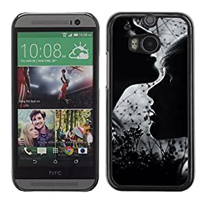 Graphic4You Lovers Couple Design Hard Case Cover for HTC One (M8) by icecream design