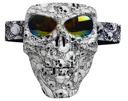 JFFCESTORE Motorbike Motorcycle Off-Road Riding Skull Full...