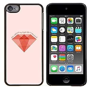 TECHCASE---Cubierta de la caja de protección para la piel dura ** Apple iPod Touch 6 6th Touch6 ** --MINIMALISTA DIAMANTE
