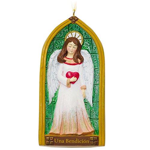 Angel Church Window Spanish-Language Hallmark Ornament Religious; Multicultural; (Heavenly Christmas Angel Ornament)