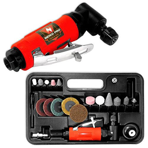 "Te echo de menos 1/4"" Mini Air Angle Die Grinder With Accessories Cutting Cut Off Tool KIt Set from Te echo de menos"