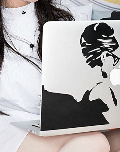 Abstract Art Computer Decal of Audrey Hepburn from Breakfast at Tiffany's