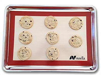 Silicone Baking Mat By Noella - Non Stick, Non Skid, Heat Resistant Pastry Mat - Works As Cookie Sheet - Professional Grade Baking Sheet of the Finest Quality