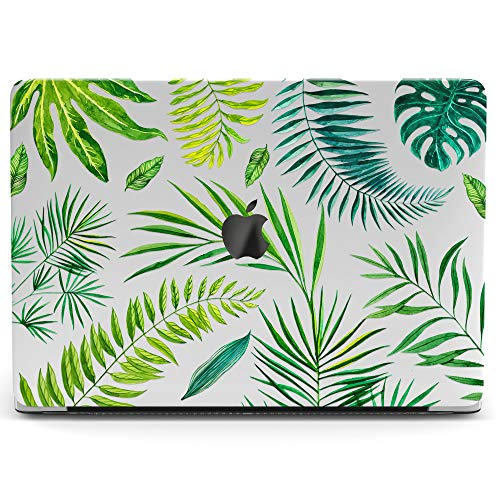 Wonder Wild Mac Retina Cover MacBook Pro 15 inch 12 11 Clear Hard Case Air 13 Apple 2019 Protective Laptop 2018 2017 2016 2015 Plastic Print Touch Bar Leaves Pattern Exotic Plants Palm Floral Tropical -
