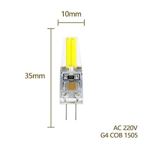 LED Lamp G9 G4 E14 220V 3W 6W 9W Bombillas LED Bulb G4 AC DC 12V COB ...