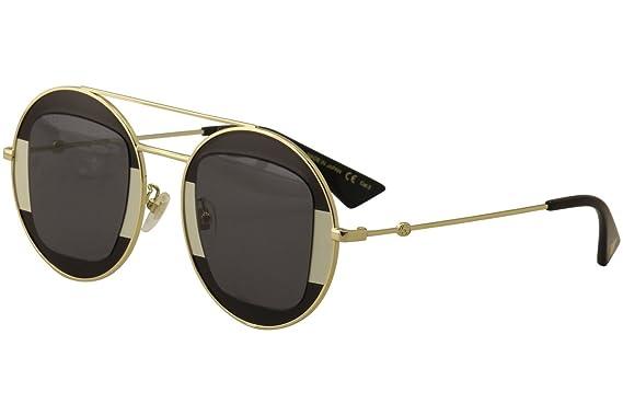 e25028bf008 Amazon.com  Gucci GG 0105 S- 006 SILVER GREY GOLD Sunglasses  Clothing