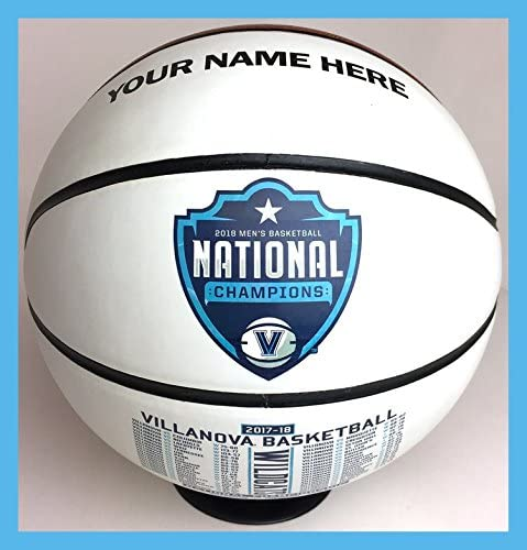 Custom Personalized Villanova Championship Basketball w/ & Stand - Ships 3 Business Days, High Resolution Photos & Text - for Players, MVP Awards, Personalized Gifts 51WsFbEQPOL