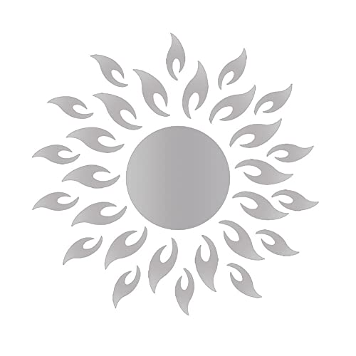SOLEDI Wall Art Sticker Acrylic 3D Sunflower Mirror Effect Wall Decal for Living Room Bedroom Kitchen