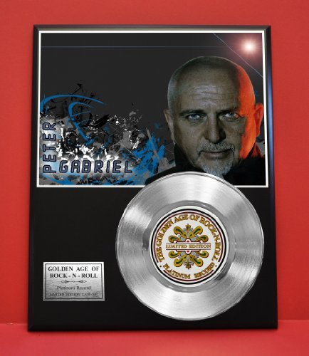 Peter Gabriel Limited Edition Platinum Record Display - Music Memorabilia Wallart - from Gold Record Outlet