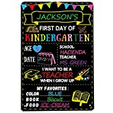 Fancy Land First Day of School Chalkboard Sign Use Liquid Chalk Markers to Customize
