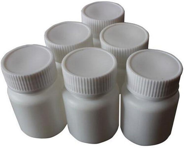 Juego de 12 botellas de plástico blancas de 50 ml para pastillas ...