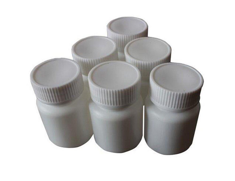 Juego de 12 botellas de plástico blancas de 20 ml / 30 ml / 50 ml / 70 ml / 100 ml / 150 ml, para pastillas, cápsulas, recipientes de almacenamiento, botellas para medicinas, pastillas, tabletas, recipientes, estuche para mascotas, caja de lata. Tarro blan