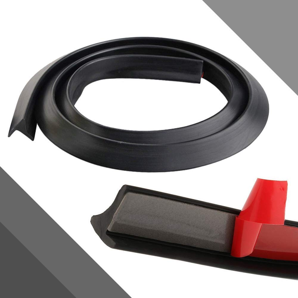 Car Wheel Fender Extension Eyebrow Arch Trim Lips Strip Soft Rubber Fender Extension Moulding Protector 59 Long 2PCS