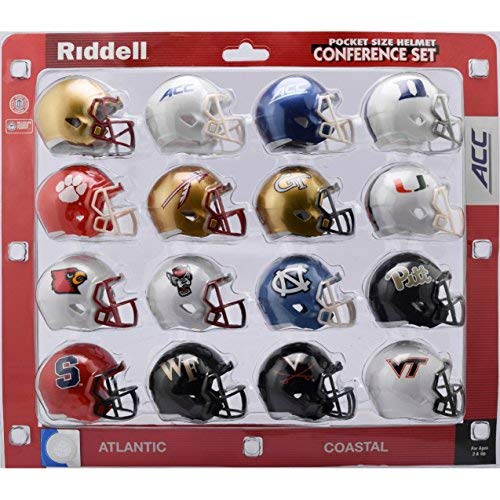 Riddell NCAA Acc Helmet Pocket ProACC Conference Set Pocket Pro Speed Style 2018, Team Colors, One Size College Football Team Helmets