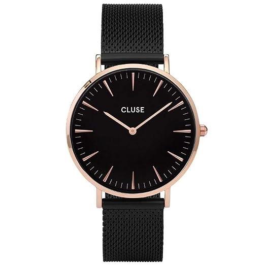 CLUSE La Bohème Mesh Rose Gold Black Black CL18034 Women s Watch 38mm  Stainless Steel Strap Minimalistic e30f7ae7a59e