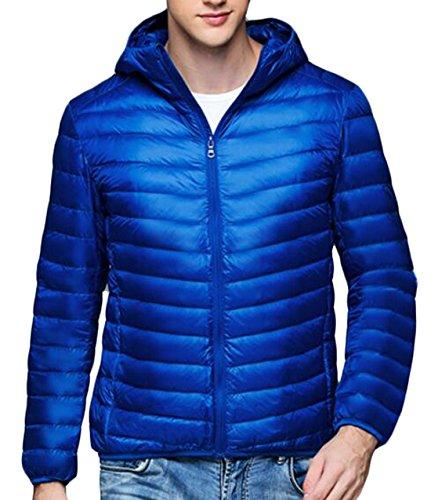 Jacket Down US Casual EKU Coat Blue Men's Puffer Royal S Hooded Warm Packable wa6Hw0x