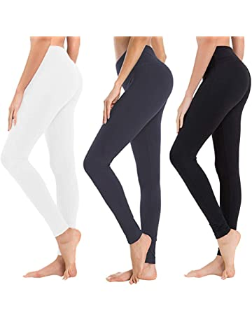 763d68f94 High Waisted Leggings for Women - Soft Athletic Tummy Control Pants for  Running Cycling Yoga Workout