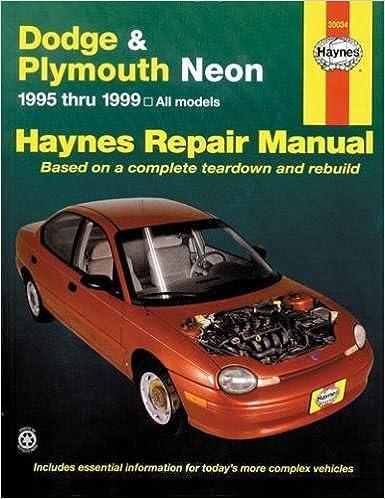 Dodge Plymouth Neon 9599 Haynes Repair Manuals 1st Edition