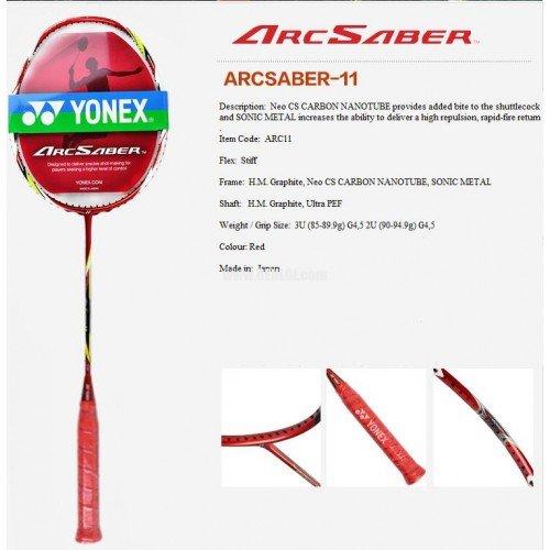 Yonex Arcsaber 11、Strung with Cover、文字列の選択  Nanogy 98