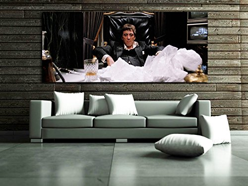 Poster Mural Scarface Mob Gangster 40x94 inch (100x240 cm) Adhesive Vinyl - Mail Internation