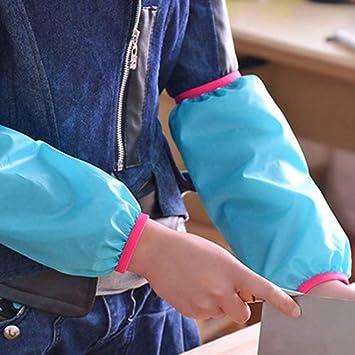 Funda de poli/éster Oxford para limpieza de la casa antiempa/ñamiento Tiansiangjjeu resistente al agua protector de brazo azul celeste