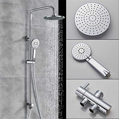 Shower Head Universal Handheld Shower Chrome Bathroom Shower Faucet In Wall Shower Pipe With Hand Shower Fall Shower Tap 65X30X15Cm High Pressure And Water Saving