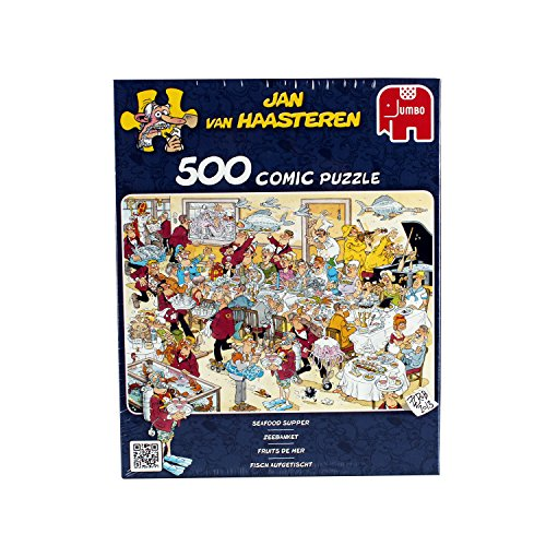 Jan van Haasteren Seafood Supper 500 Piece Jigsaw Puzzle