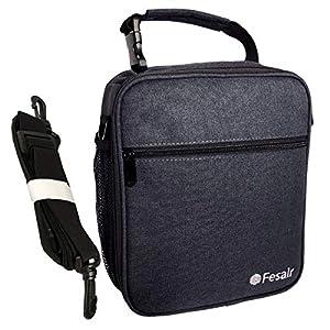 Classic Lunch Bag Larger Heat Retention AL Foil Lining Lunch Bag for Men Women Girls Boys Kids Adults Reusable Cooler Lunch Box with Shoulder Strap