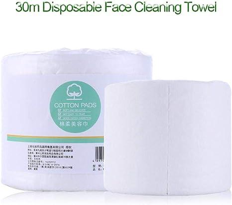 1 rollo de 30M cara desechable de algodón limpieza de viaje toalla de toalla facial no tejida: Amazon.es: Instrumentos musicales