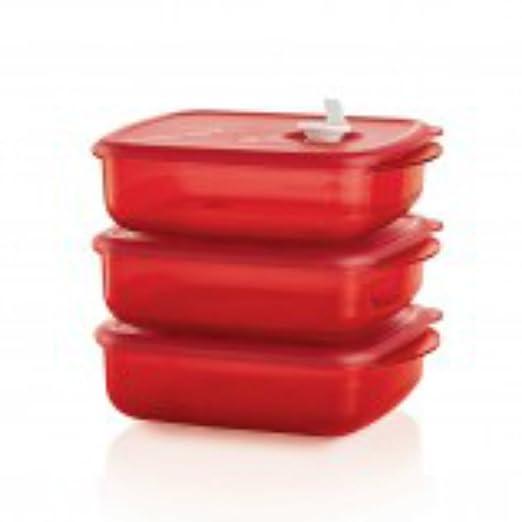 Tupperware para microondas cuencos cuadrado juego de contenedores ...