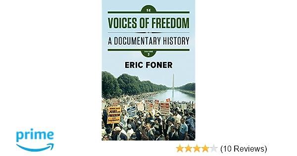 voices of freedom eric foner summary