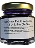 (Purple) Glass Paint Lacquer Stain, Permanent 1.5-Ounce Professional Stained Glass Like Paint