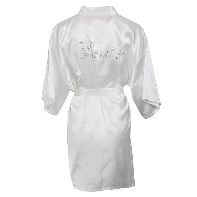 MagiDeal Hochzeit Morgenmantel Damen Bademantel Nachtwäsche Pyjamas ...