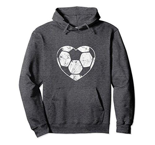 Unisex Soccer Ball Heart Mom Fan Parent Pullover Hoodie XL: Dark Heather