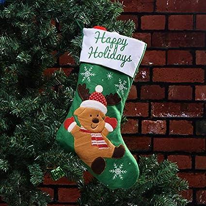 Gudelaa Percha de Almacenamiento de Dulces de Navidad con Santa muñeco de Nieve de los Ciervos