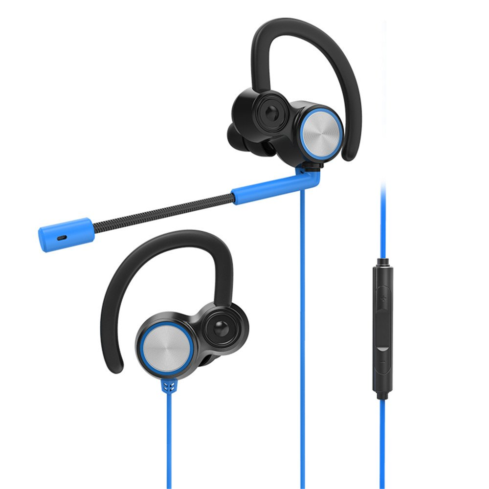 Greendo Headphones, In-Ear Gaming Earbuds Noise Isolation Headsets Earphones with Microphone for Laptop Computer Smart Phone/PC/Nintendo Switch/PS4,3.5mm Handsfree Calling(blue)