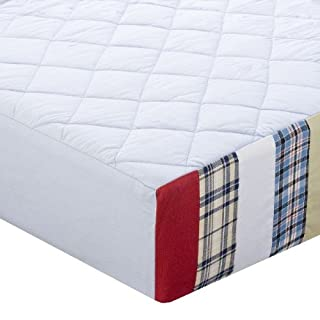 Bacati - Aidan Plaids and Stripes Boys Quilted Changing Pad Cover