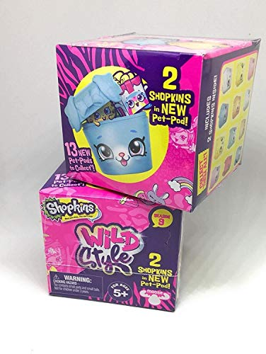 Shopkins Season 9 Wild Style 2 Pack Pet- Pod Blind Box