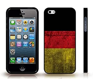 iStar Cases? iPhone 5/5S Case with German Distressed Flag , Snap-on Cover, Hard Carrying Case (Black)